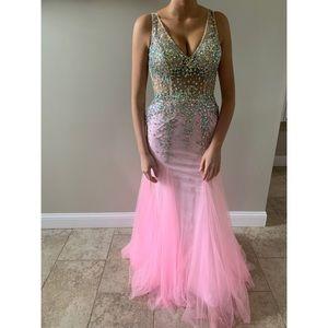 Hot Pink Prom dress Sz 6